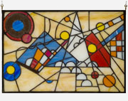 Vladimir Bulatov Stained Glass Panel #1