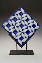 Vladimir Bulatov Blue White Pattern #2 (Fused Glass)